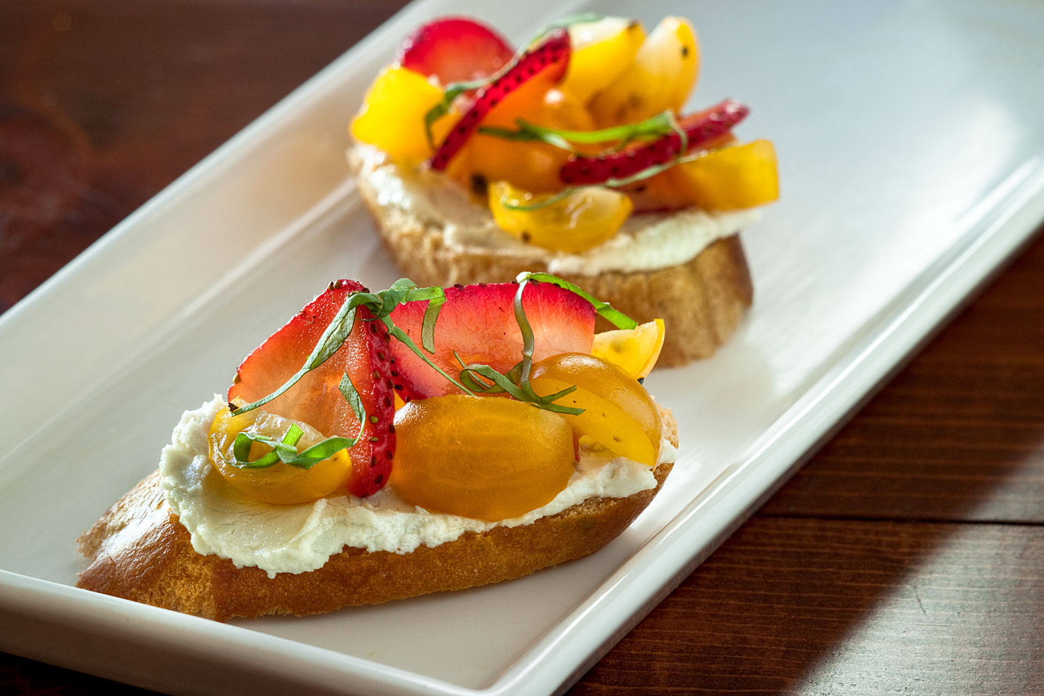 Fruited Bruschetta with Goat Cheese