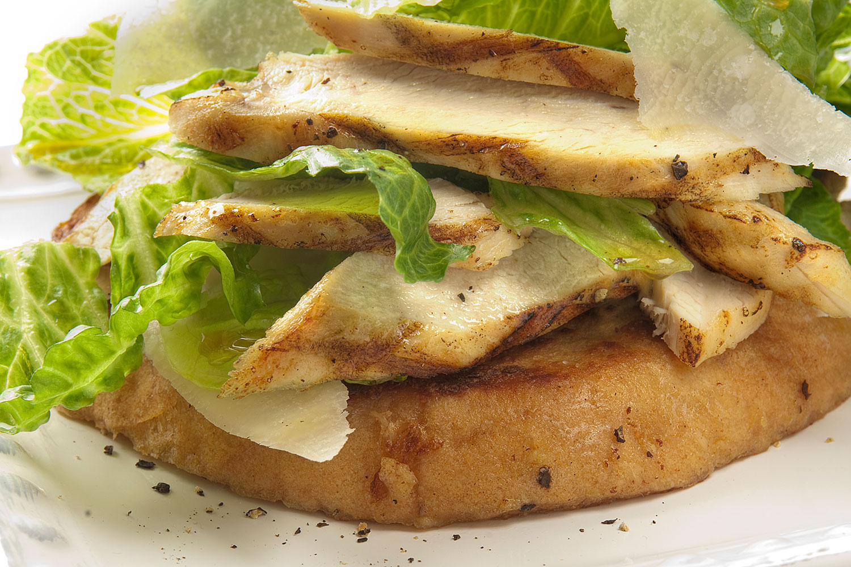 Chicken Caesar Stuffed French Toast