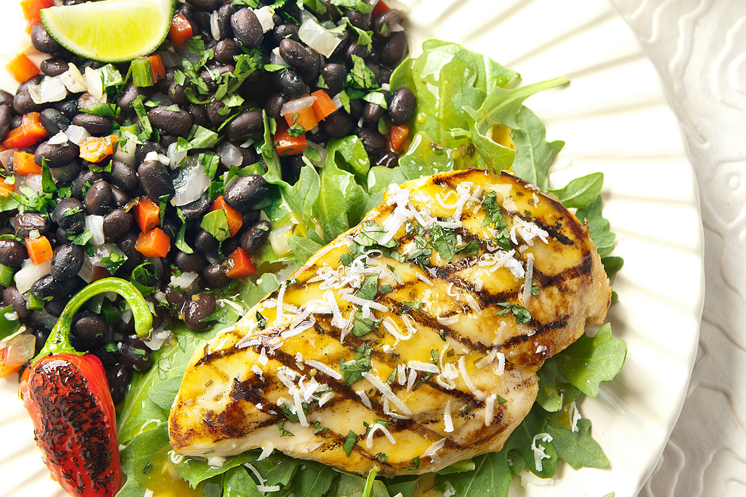 ... lemon chicken with cilantro black beans made with lively lemon