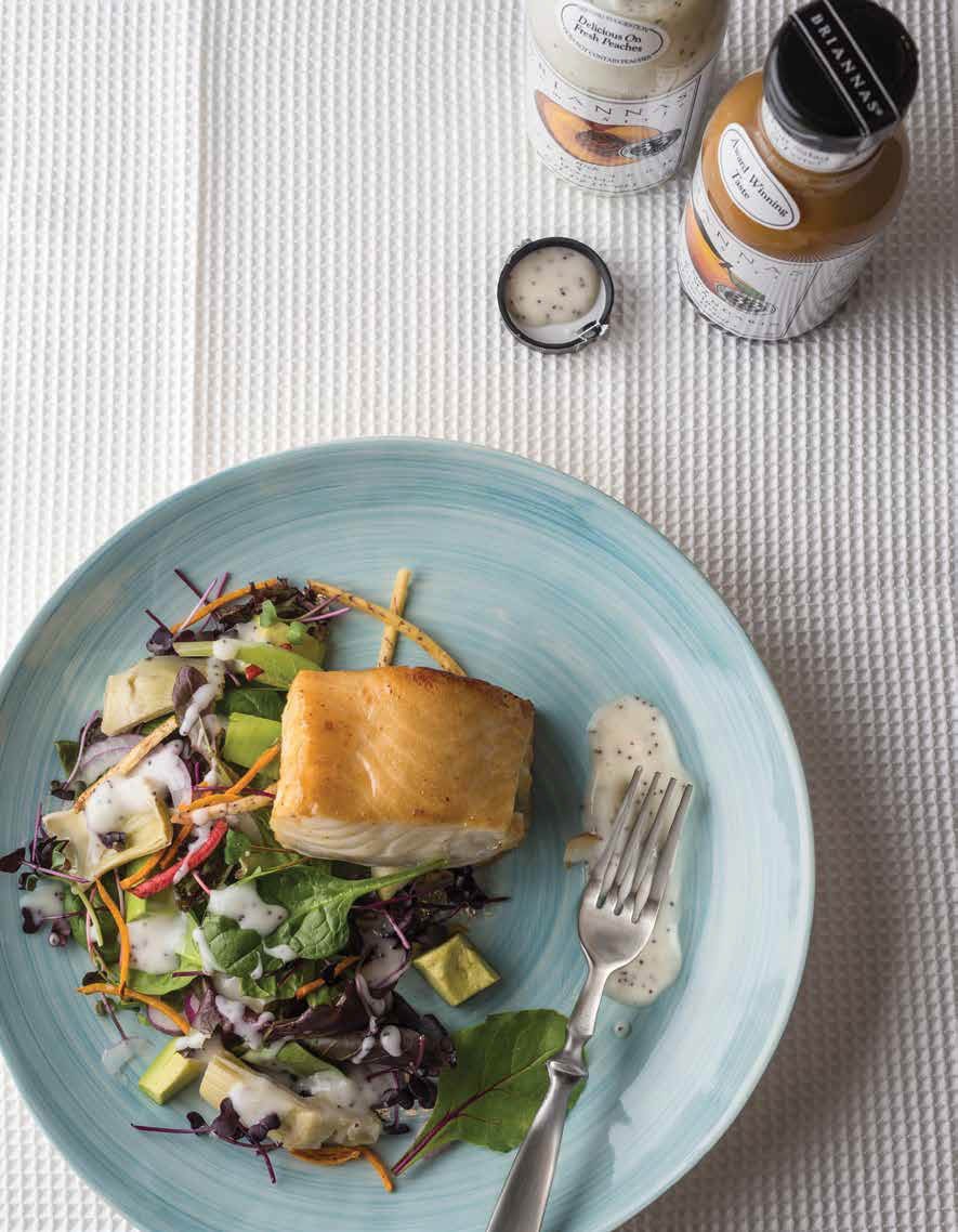 Marinated Sea Bass Over Artichoke Salad