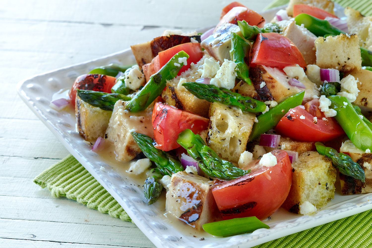 Grilled Chicken and Asparagus Panzanella Salad - BRIANNAS ...